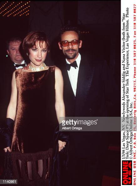 1/3/98 Las Vegas, NV. Newlyweds Alexander Siddig and Nana ...
