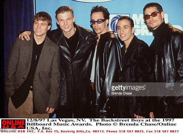 Las Vegas NV The Backstreet Boys at the 1997 Billboard Music Awards