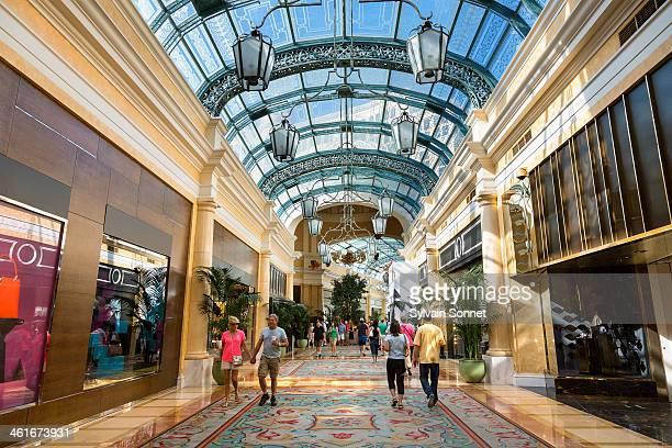 Las vegas, Shopping mall in Bellagio Hotel