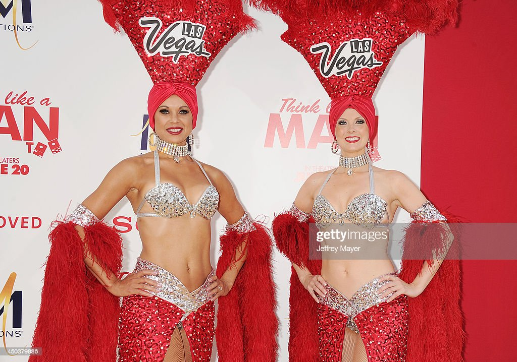 Las Vegas Showgirls attend the Los Angeles Premiere of 'Think Like A Man Too' at TCL Chinese Theatre on June 9, 2014 in Hollywood, California.