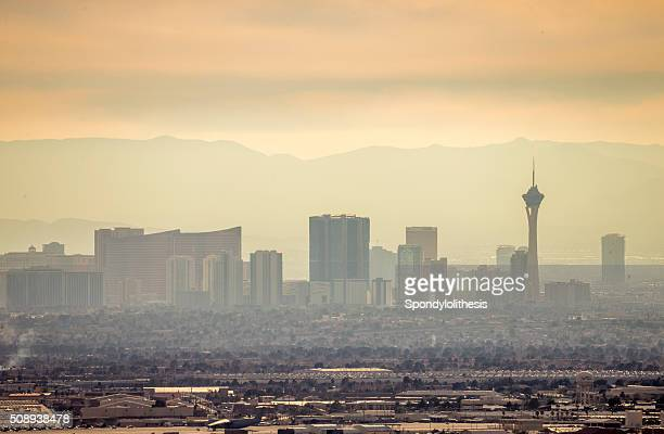 Las Vegas Skyline under a fogy day