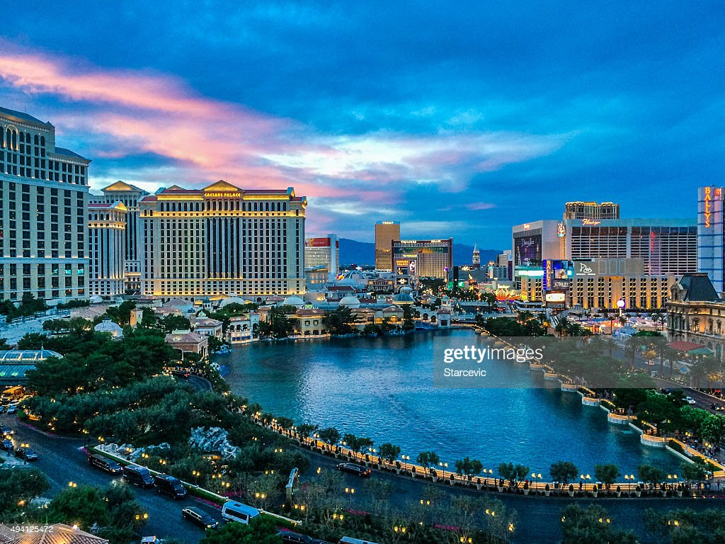 Las Vegas Strip at Sunset : Stock Photo