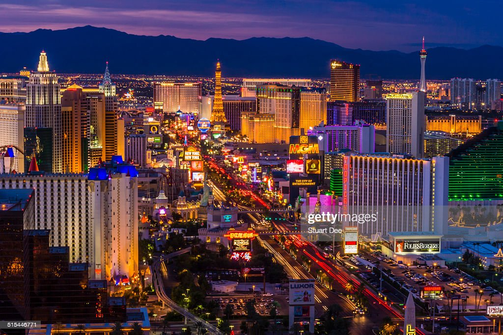 Las Vegas Strip at twilight : Stock Photo