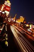 Las Vegas strip, USA, night shot