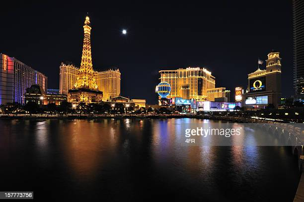 Las Vegas Strip with Fullmoon