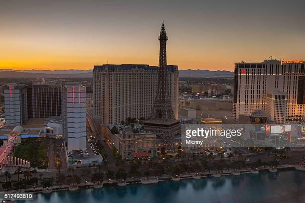 Las Vegas sunset before the lights go on