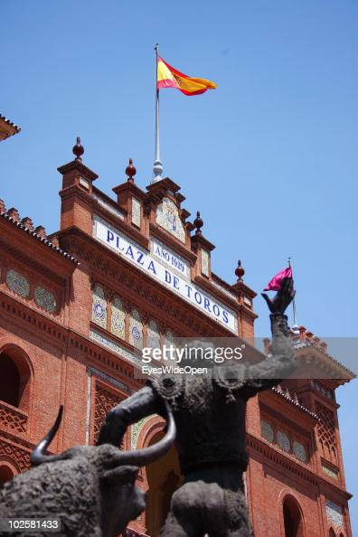 Las Ventas bullfight stadion at Plaza de Toros in the heart of Madrid on May 24 2010 in Madrid Spain Madrid is a big European city with more than 3...