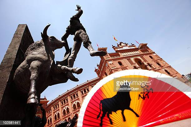 Las Ventas bullfight stadium at Plaza de Toros in the heart of Madrid on May 24 2010 in Madrid Spain Madrid is a big European city with more than 3...