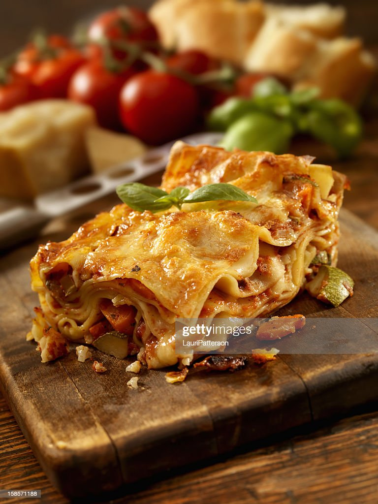 Lasagna Primavera : Stock Photo