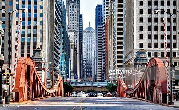 LaSalle Street Bridge and Chicago Board of Trade