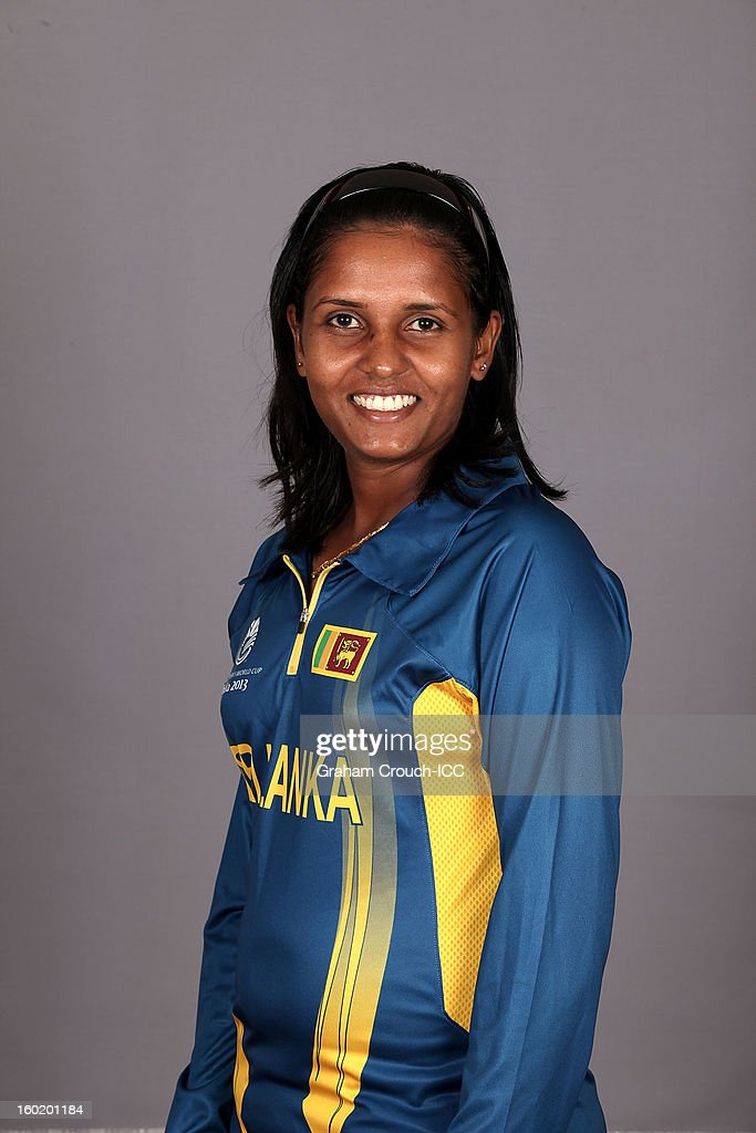 Lasanthi Madushani of Sri Lanka poses at a portrait session ahead of the ICC Womens World Cup 2013 at the Taj Mahal Palace Hotel on January 27, 2013 in Mumbai,India.
