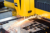 High precision CNC laser cutting metal sheet
