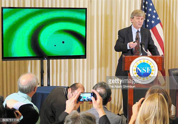 Laser Interferometer GravitationalWave Observatory Executive Director David Reitze speaks during a press conference on February 11 2016 in Washington...