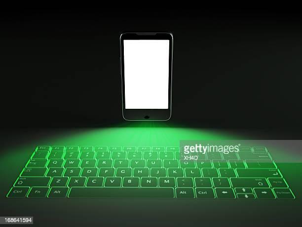 Laser keyboard mobile phone