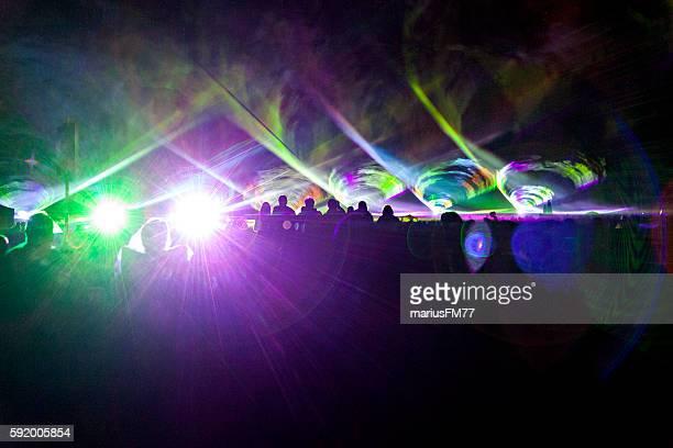 Laser show crowd