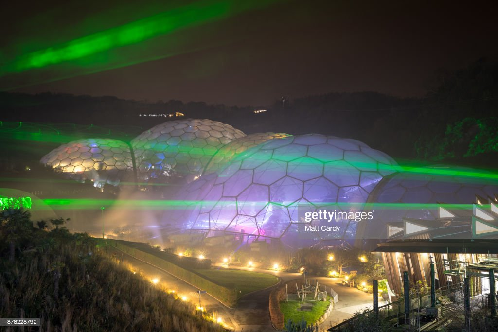 Christmas Laser Show Lights Up Eden Project