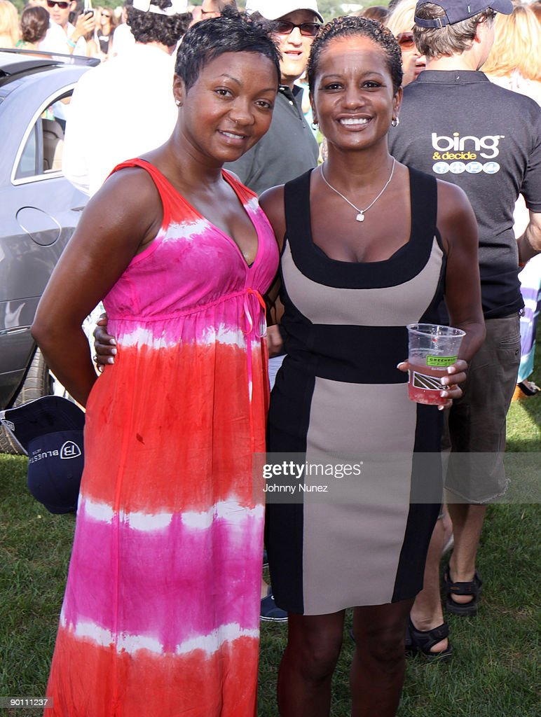 Lashan Browning and Rachel Noerdlinger attend the closing day of the Mercedes-Benz Polo Challenge at Blue Star Jets Field at Two Trees Farm on August 22, 2009 in Bridgehampton, New York.