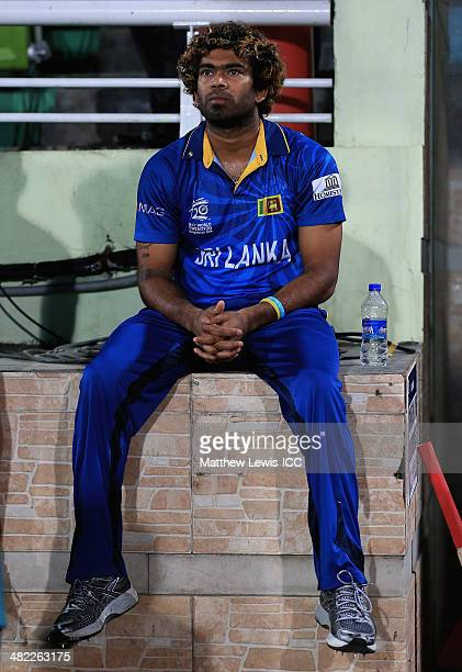 Lasith Malinga captain of Sri Lanka looks on during the ICC World Twenty20 Bangladesh 2014 Semi Final match between Sri Lanka and the West Indies at...