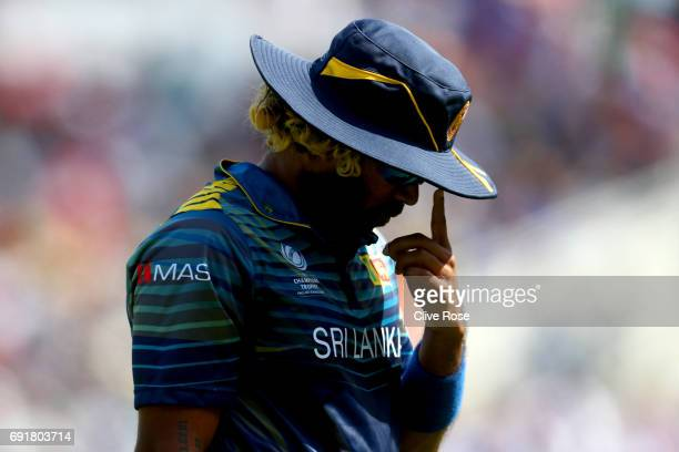 Lasith Malinga of Sri Lanka during the ICC Champions trophy cricket match between Sri Lanka and South Africa at The Oval in London on June 3 2017