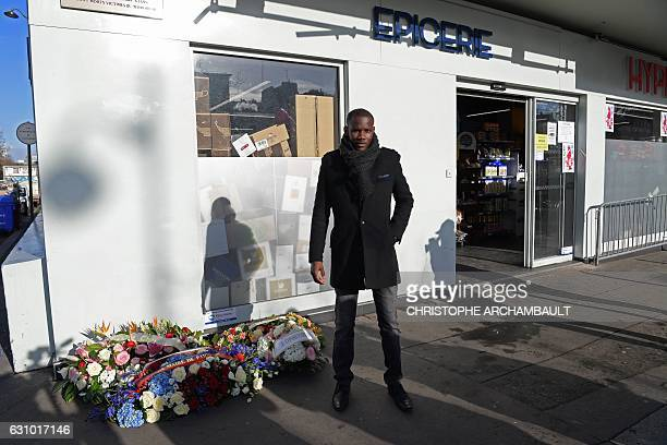 Lassana Bathily the employee of the Hyper Cacher supermarket who helped shoppers to hide in a cold storage room from an Islamist gunman who attacked...