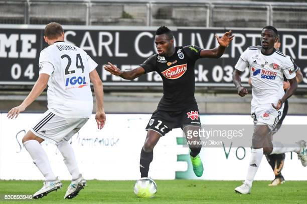 Lassana Coulibaly of Angers during the Ligue 1 match between Amiens SC and Angers SCO at Stade de la Licorne on August 12 2017 in Amiens