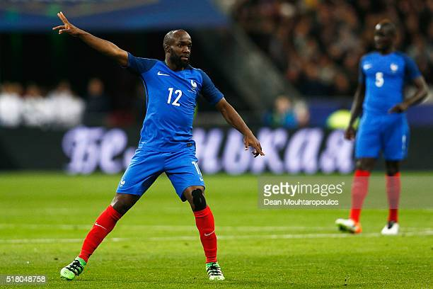 Lassana Diarra of France in action during the International Friendly match between France and Russia held at Stade de France on March 29 2016 in...