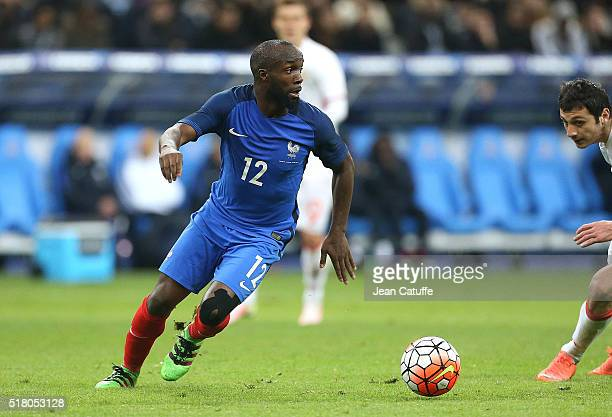 Lassana Diarra of France in action during the international friendly match between France and Russia at Stade de France on March 29 2016 in...