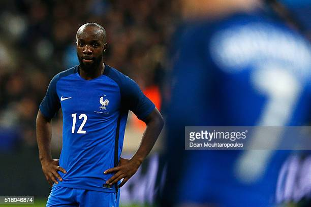 Lassana Diarra of France looks on during the International Friendly match between France and Russia held at Stade de France on March 29 2016 in Paris...