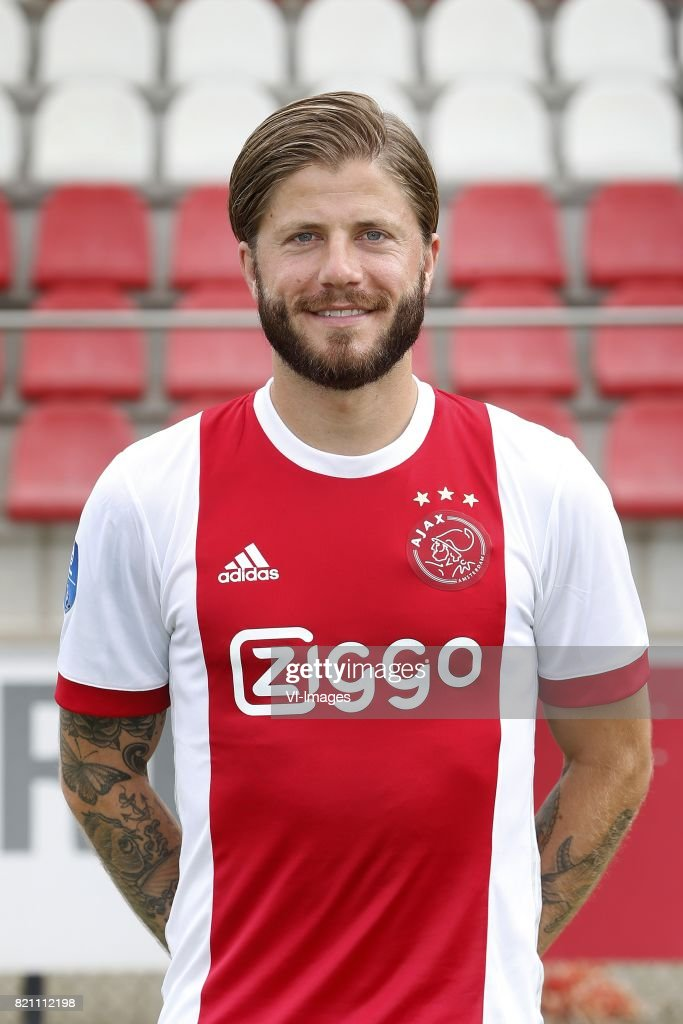 Lasse Schone during the team presentation of Ajax on July 22, 2017 at the at the Toekomst in Amsterdam, The Netherlands