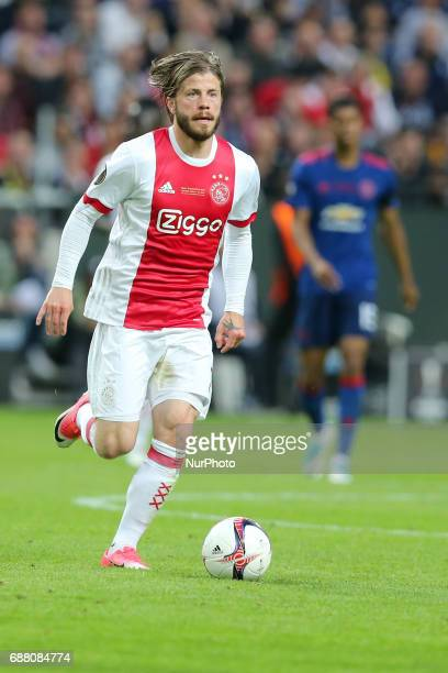 Lasse Schone during the UEFA Europa League Final match between Ajax and Manchester United at Friends Arena on May 24 2017 in Stockholm Sweden