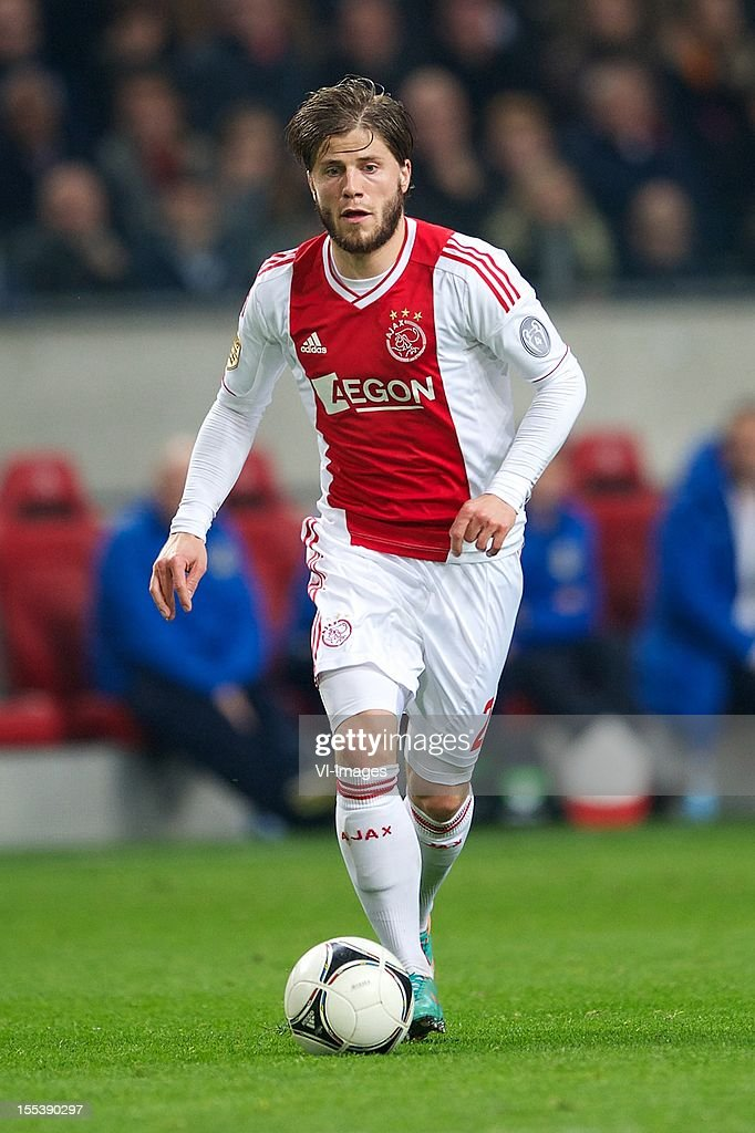 Lasse Schone of Ajax during the Dutch Eredivisie match between Ajax Amsterdam and Vitesse Arnhem at the Amsterdam Arena on November 3, 2012 in Amsterdam, The Netherlands.