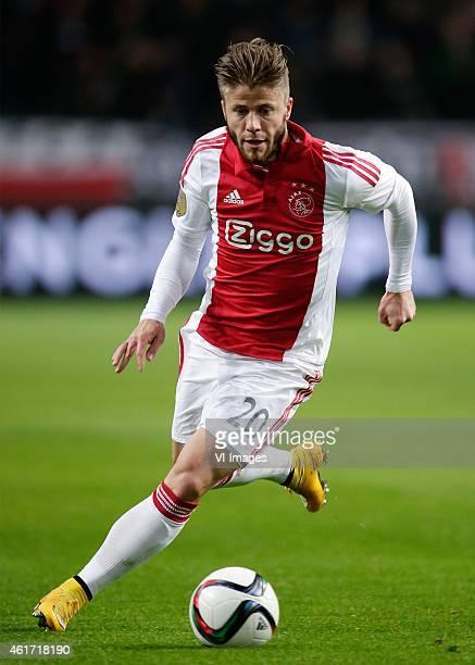 Lasse Schone of Ajax during the Dutch Eredivisie match between Ajax Amsterdam and FC Groningen at the Amsterdam Arena on January 16 2015 in Amsterdam...