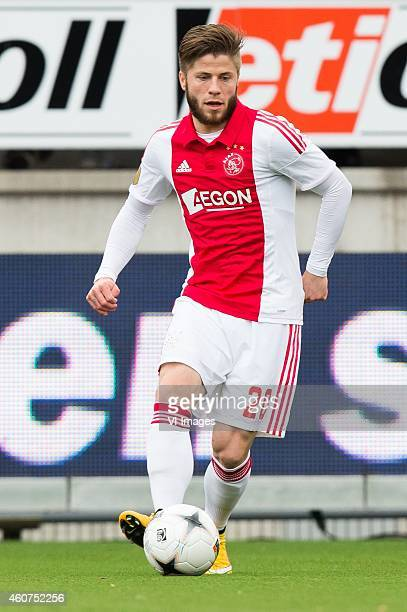 Lasse Schone of Ajax during the Dutch Eredivisie match between Excelsior Rotterdam and Ajax Amsterdam at Woudenstein stadium on December 21 2014 in...