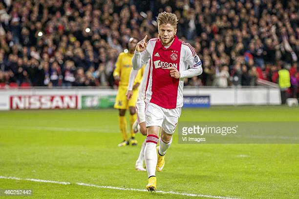 Lasse Schone of Ajax during the UEFA Champions League group F match between Ajax Amsterdam and Apoel Nicosia on December 10 2014 at the Amsterdam...