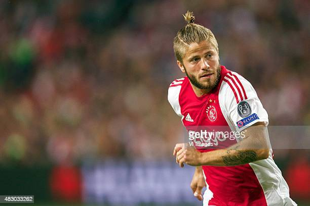 Lasse Schone of Ajax during the UEFA Champions League third qualifying round match between Ajax and Rapid Wien on August 4 2015 at the Amsterdam...