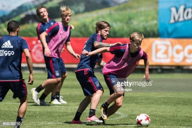 Lasse Schone of Ajax Frenkie de Jong of Ajaxduring the preseason summer training camp of Ajax Amsterdam at Lindenstadion on July 05 2017 in Hippach...