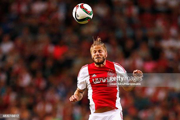 Lasse Schone of Ajax in action during the third qualifying round 2nd leg UEFA Champions League match between Ajax Amsterdam and SK Rapid Vienna held...