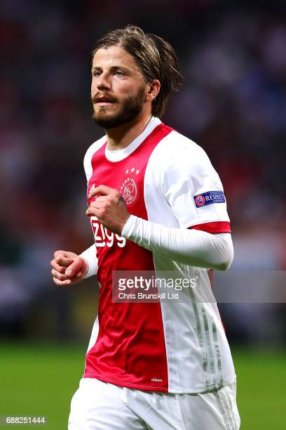 Lasse Schone of Ajax in action during the UEFA Europa League Final match between Ajax and Manchester United at Friends Arena on May 24 2017 in...