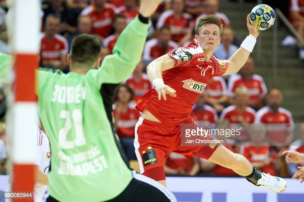 Lasse Svan of Denmark in action during the European Championship Croatia 2018 Playoff match between Denmark and Hungary at Ceres Arena on May 07 2017...