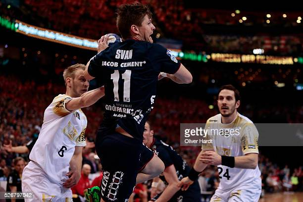 Lasse Svan of Flensburg in action during the DKB REWE Final Four Finale 2016 between SG Flensburg Handewitt and SC Magdeburg at Barclaycard Arena on...