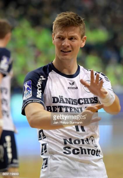 Lasse Svan of SG FlensburgHandewitt reacts during the game between Fuechse Berlin against SG FlensburgHandewitt on february 1 2017 in Berlin Germany