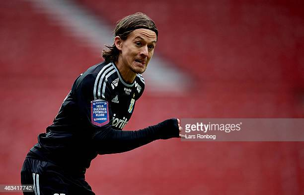 Lasse Vibe of IFK Goteborg in action during the PreSeason Friendly match between FC Copenhagen and IFK Goteborg at Telia Parken Stadium on February...