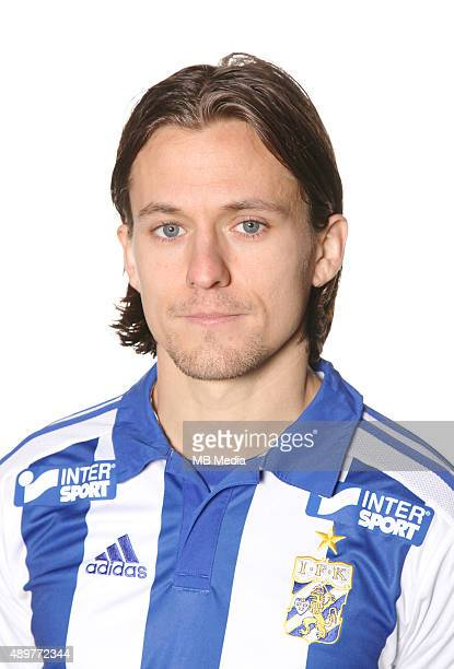 Lasse Vibe of IFK Goteborg poses during a portrait session on March 11 2015 in GothenburgSweden