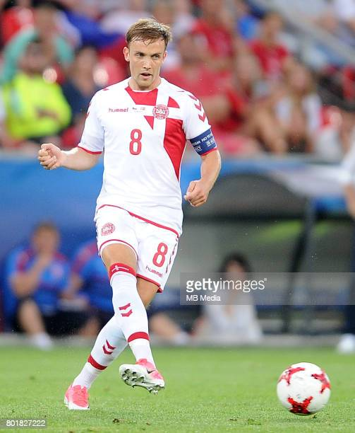Lasse Vigen Christensen during the UEFA European Under21 match between Czech Republic and Denmark at Arena Tychy on June 24 2017 in Tychy Poland