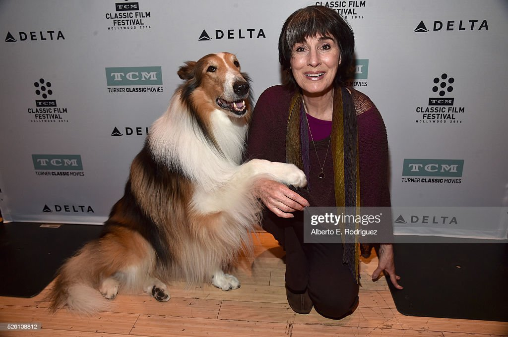 Lassie (L) and Anna Stuart attend 'Lassie Come Home' during day 2 of the TCM Classic Film Festival 2016 on April 29, 2016 in Los Angeles, California. 25826_006