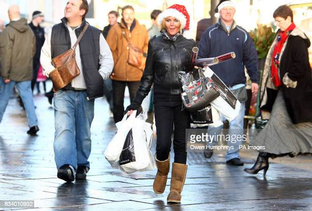 Last minute Christmas shoppers in Newcastle