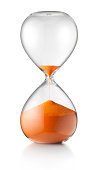 Hourglass. Concept image. Photo with clipping path.