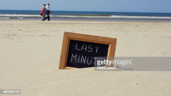 Last minute written : Stock Photo