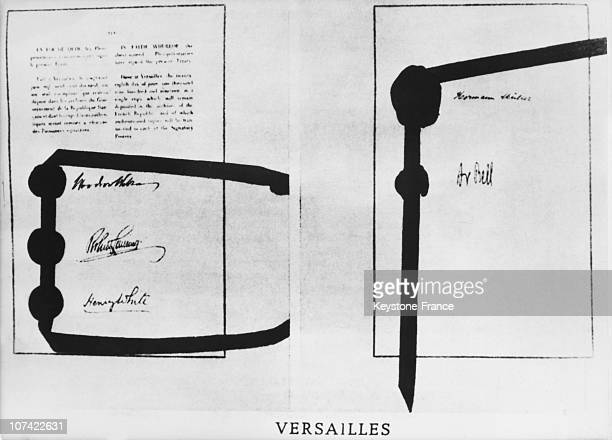 Last Page Of Treaty Of Versailles With Signatures