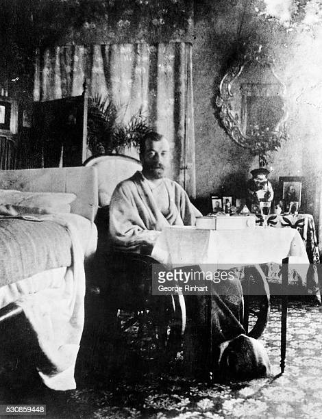Last photo of murdered Nicholas II last Czar of Russia taken a few days before his family were executed in 1918